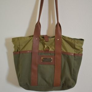 sword and plough Bags - Sword and Plough canvas leather army tote green